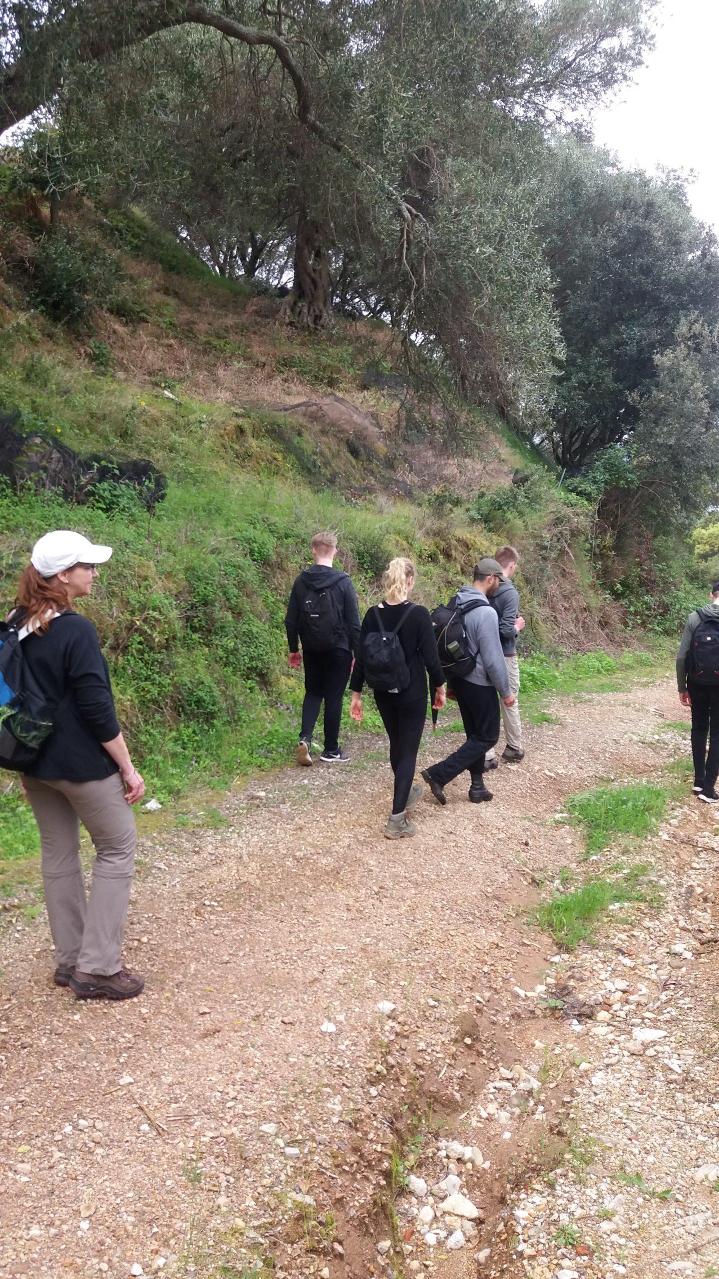 hike to iliodoros beach corfu